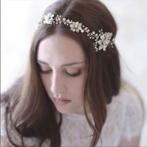 Twigs and Honey GOLD Floral Headpiece